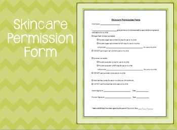 Skin Care Permission Form  Childcare  Childcare Parents And