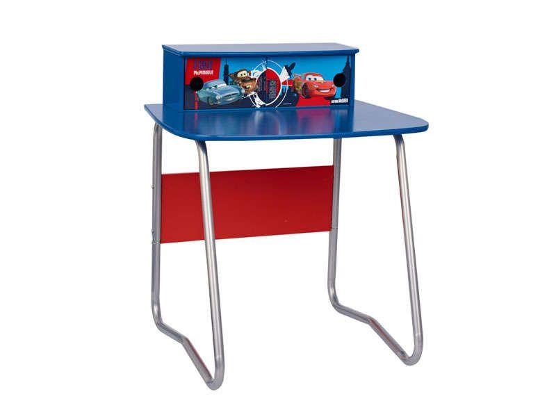 Bureau junior cars tiroirs cars coloris bleu vente de bureau