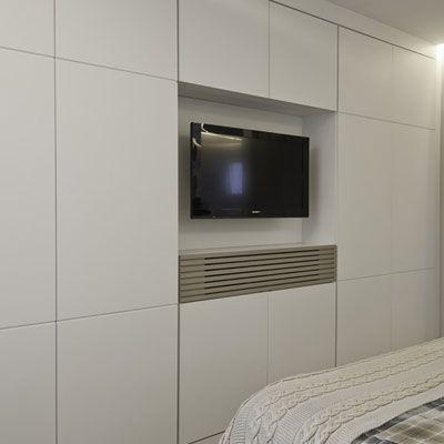 Artmário Dormitório Com Tv Embutido - Movéis BH - Grupo Algo Móveis ...