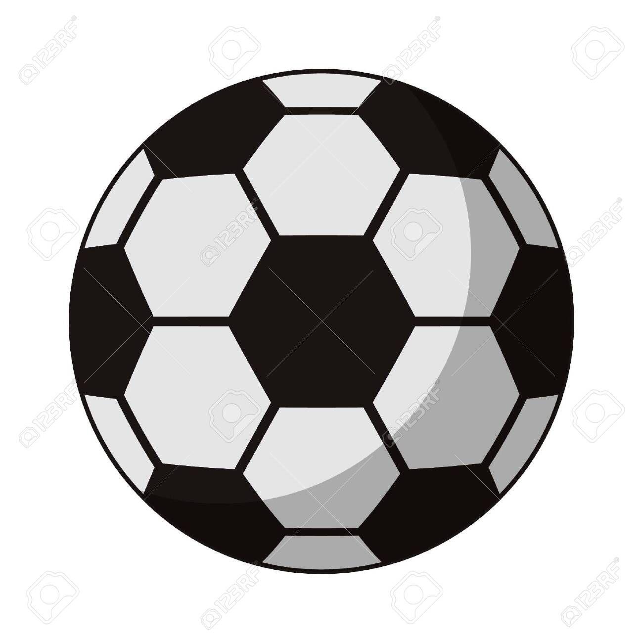 Soccer Ball Sport Cartoon Vector Illustration Graphic Design Moon Cloud And Raining Drop Ve Graphic Design Illustration Illustration Design Vector Illustration