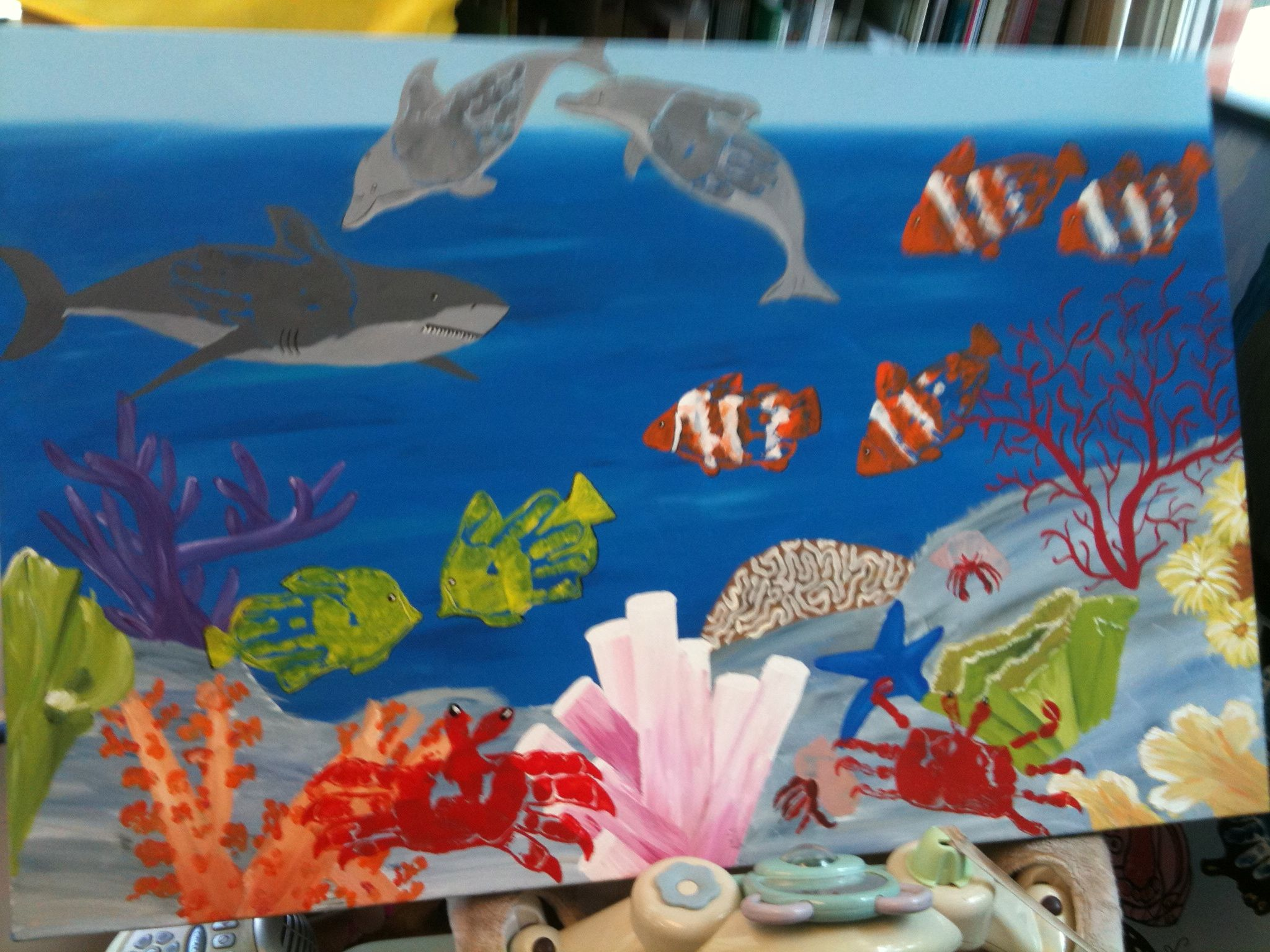 made with jen davidson handprint fish shark dolphins etc made with jen davidson handprint fish shark dolphins etc