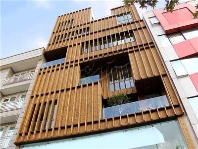 کاربرد توأمان مهندسی مکانیک و عمران در اجرای یک پروژه نمای چوب
