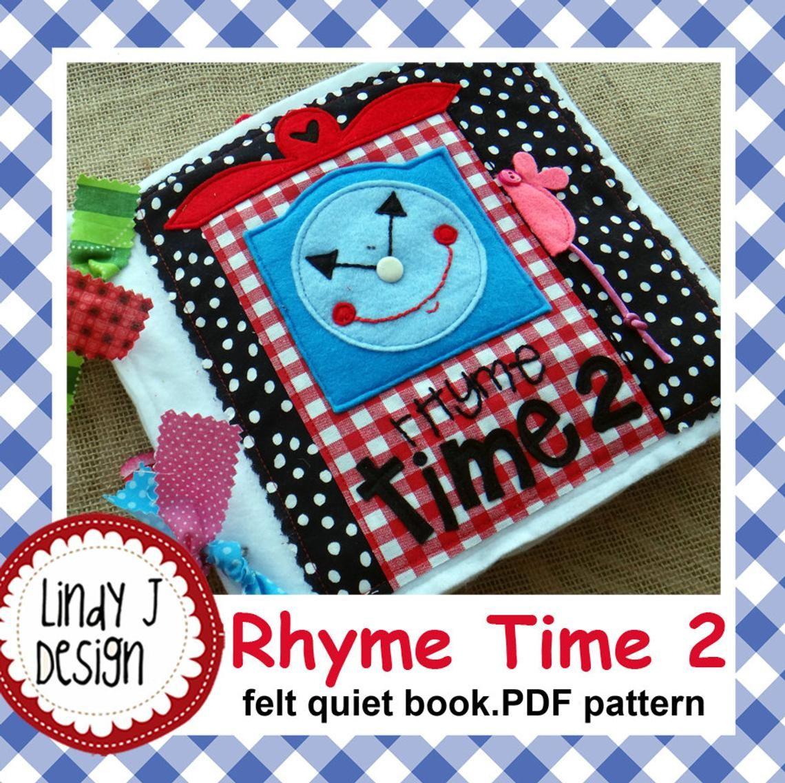 Rhyme Time 2 Felt Quiet Book Pattern