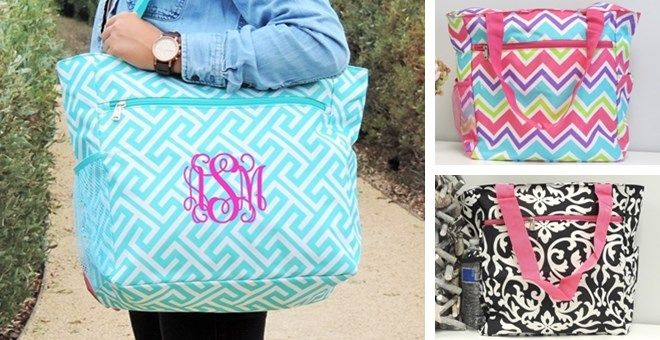 Personalized Extra Large Everyday Tote $16.99 {reg. $39.99}