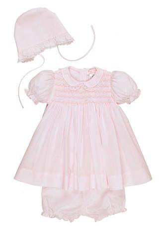 Petit Ami Pink Lace Dress with Hat | belk