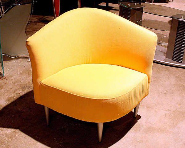 Yellow Accent Chair   New   50% Lemon Yellow Triangular Accent Chair  $199.00!