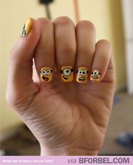 B For Bel: Minion Nails! Lauren These Would Be Awesome