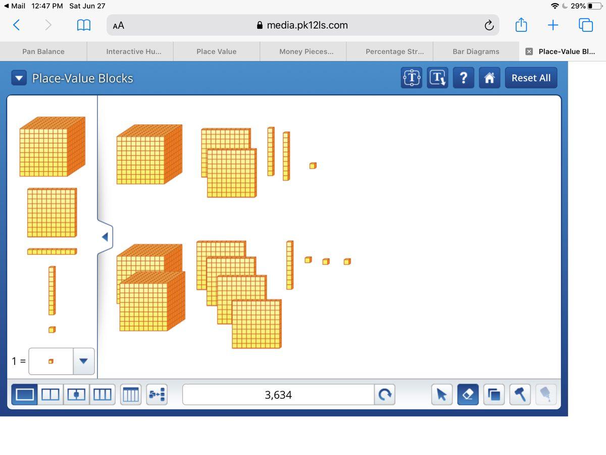 Place Value Blocks Place Value Blocks Place Values Pan Balance [ 900 x 1200 Pixel ]