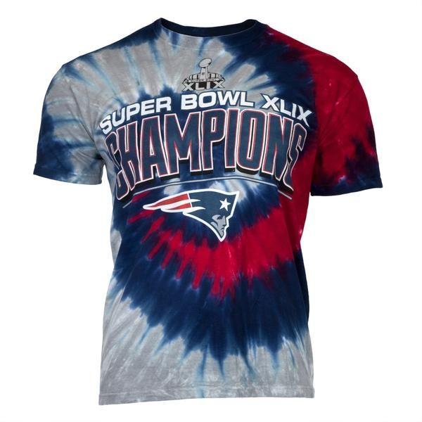 94fc1272644d New England Patriots - Super Bowl Champions Spiral Tie Dye T-Shirt ...