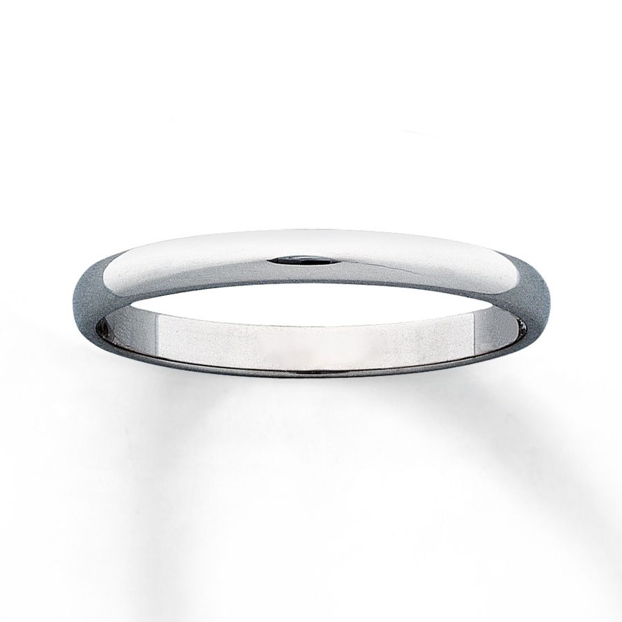 This Classic 2mm Wedding Band For Her Is Crafted Of 10K White Gold With A Beautiful