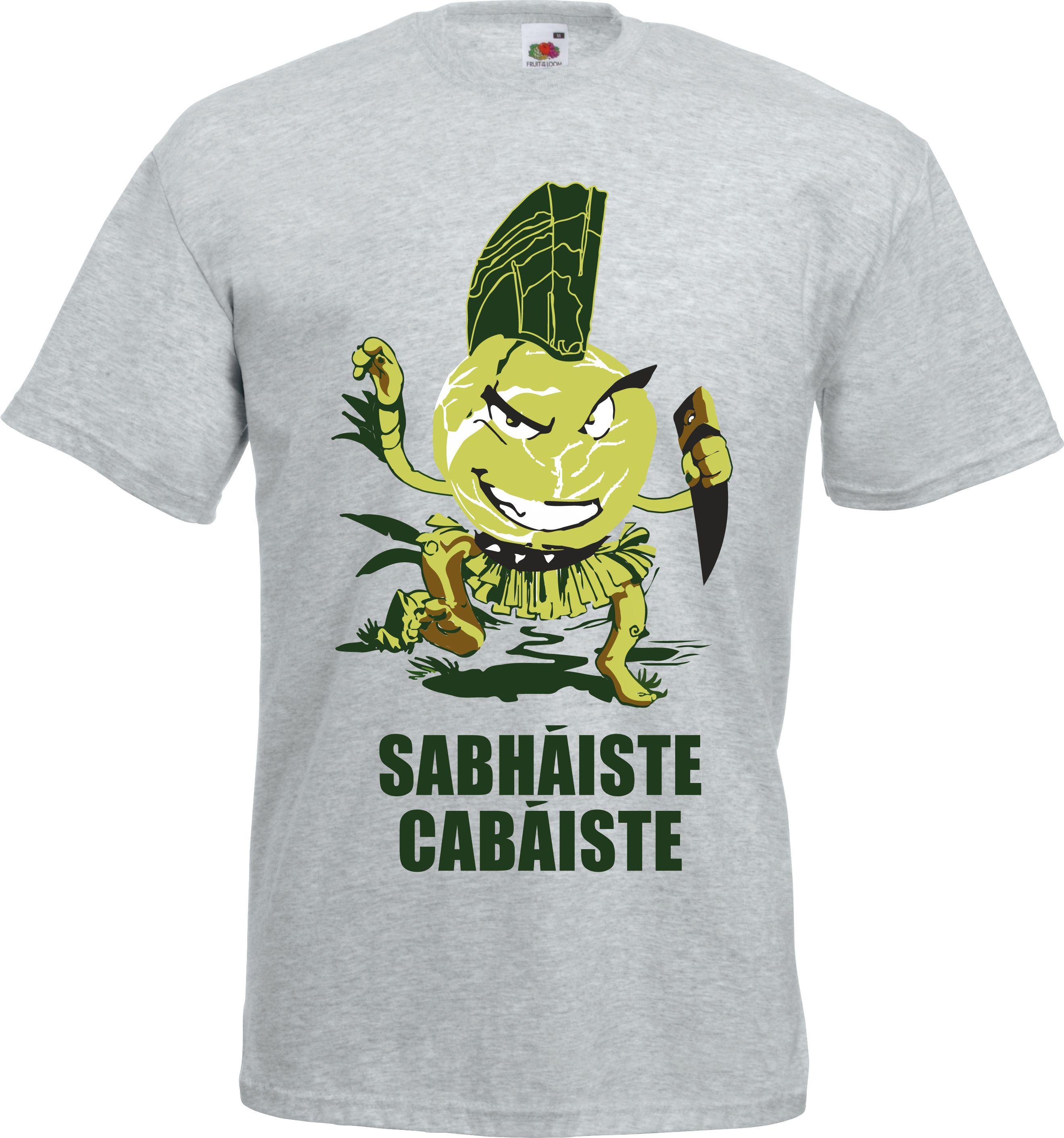 Fun Irish Language T Shirt Savage Cabbage