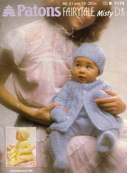 Patons Baby Knitting Pattern Book 18 Designs In Dk
