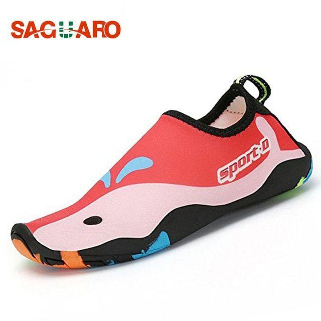 99101705c642 SAGUARO Childrens Beach Shoes Outdoor Swimming Water Shoes Anti-Slip Quick  Dry Aqua Shoes Kids