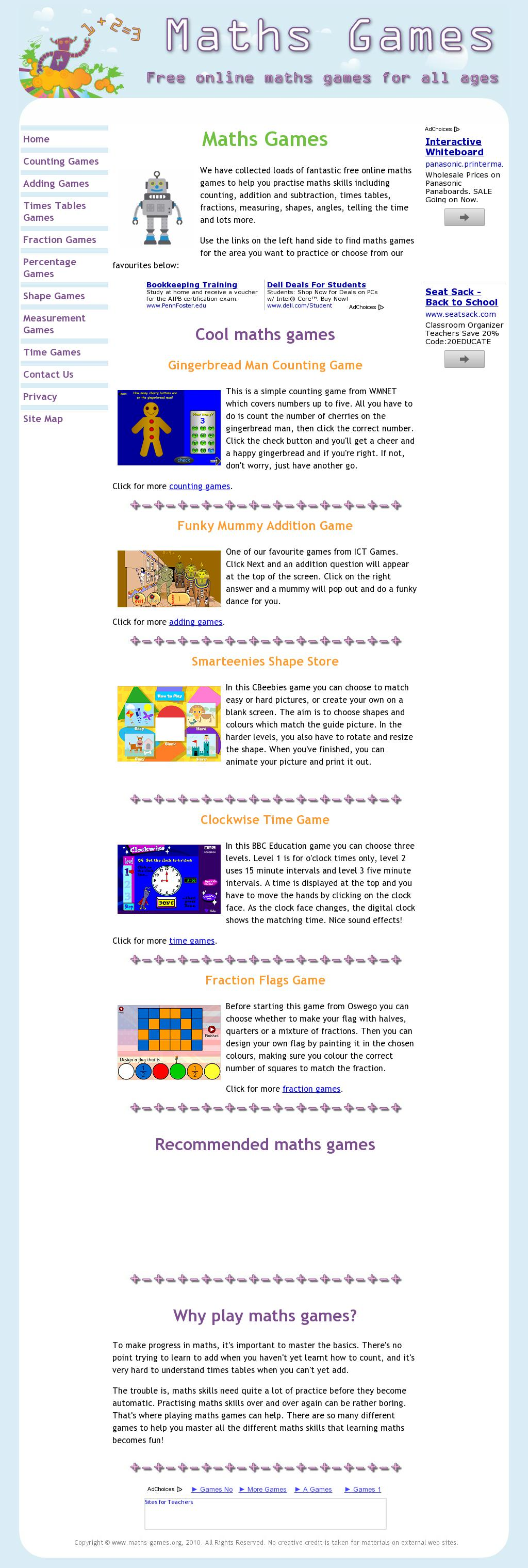 Free Online Math Games for All Ages | Student Websites | Pinterest ...