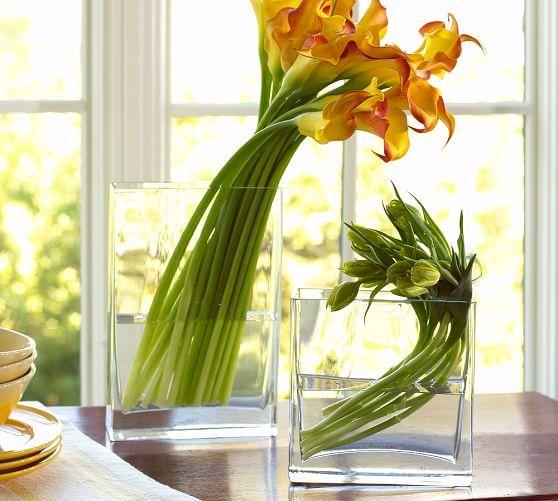 Glass Rectangular Flower Vases Homedecor Decor Home Decor