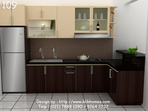 Kitchen set 109 gif kitchen set minimalis gambar desain for Design kitchen set minimalis