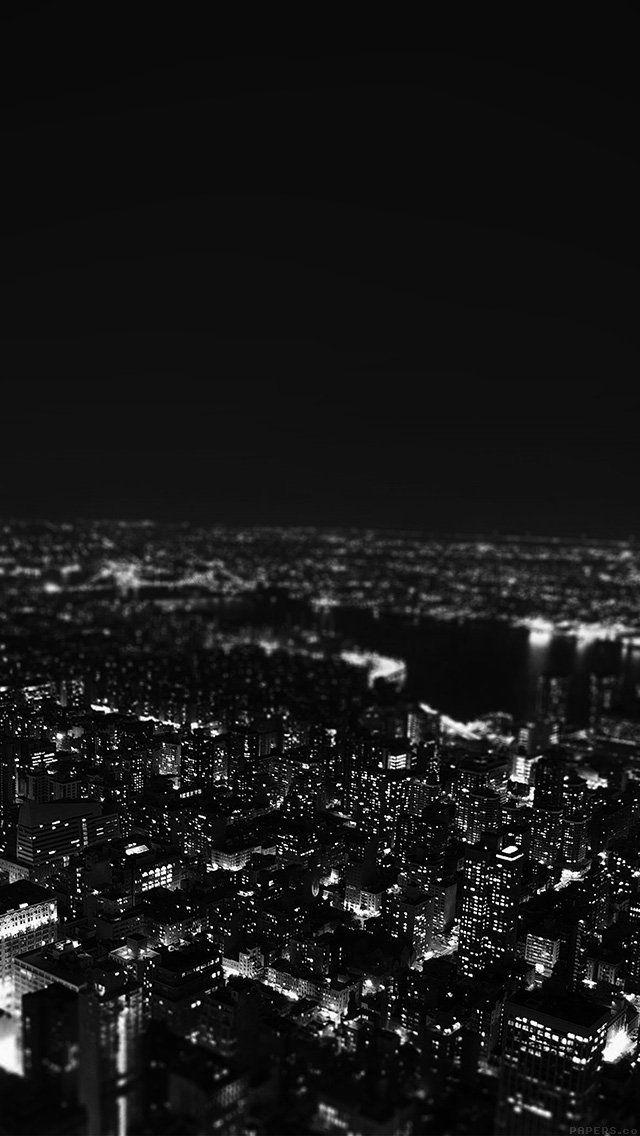Mr00 Dark Bw Night City Building Skyview