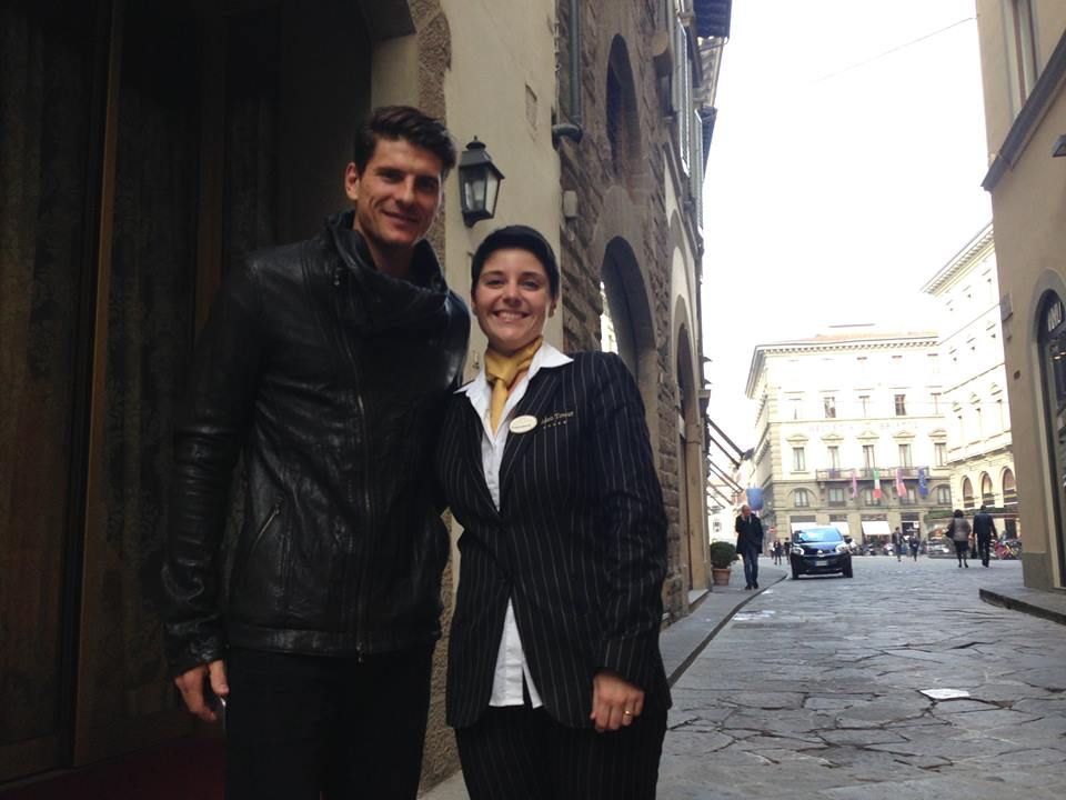 Mario Gomez guest at the Golden Tower Hotel #Florence #Tuscany #Italy