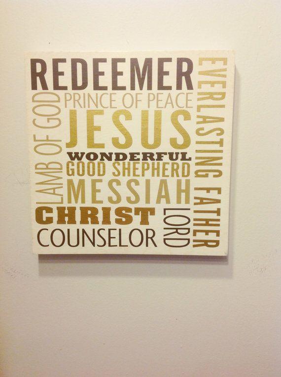 Names of Jesus Subway Art. Christmas Holiday Decor. by ArtLery ...