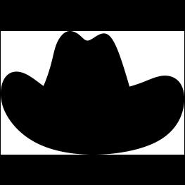 Clothing Silhouettes Cowboy Hat Applique Cowboy Hats Cowboy Quilt