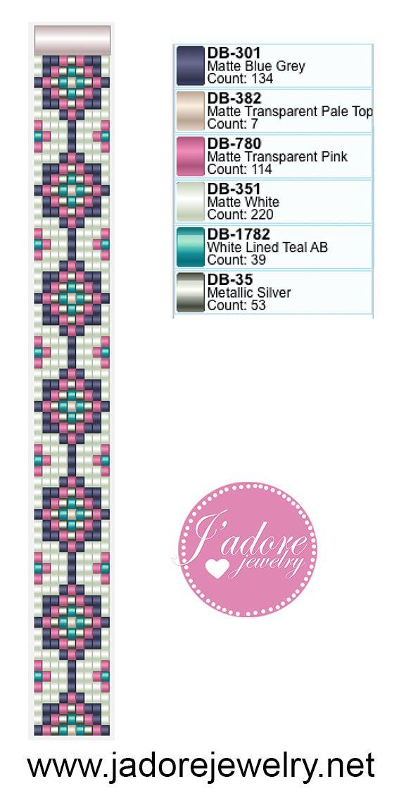 Miyuki delica weefarmband | jewelry | Pinterest | Bisuteria ...