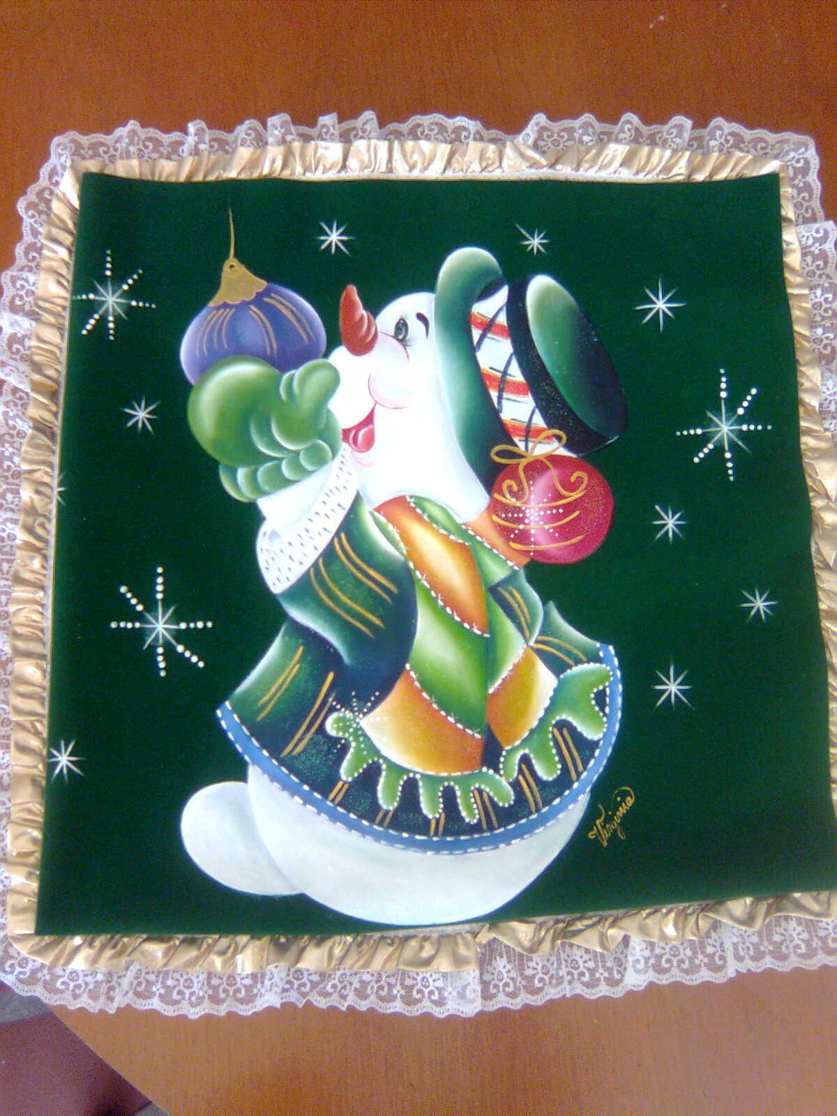 Navidad elaborado con t cnica de pirograbado - Dibujos navidenos para pintar en tela ...