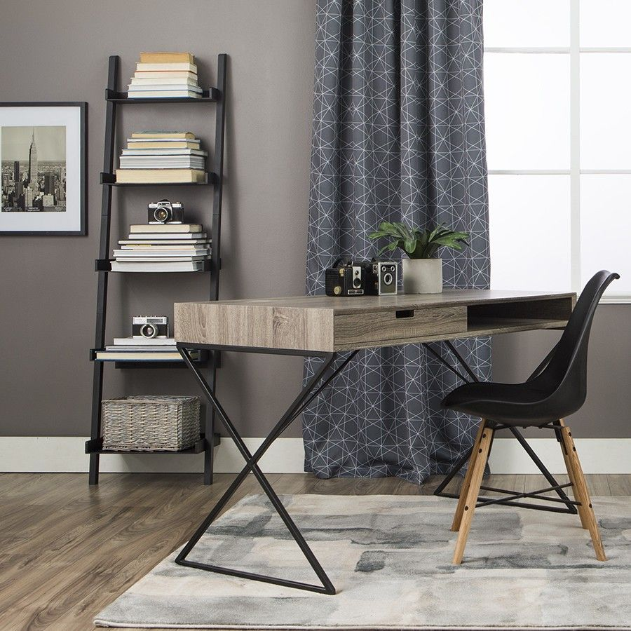 Patrick ladder shelf black shelves office furniture and black