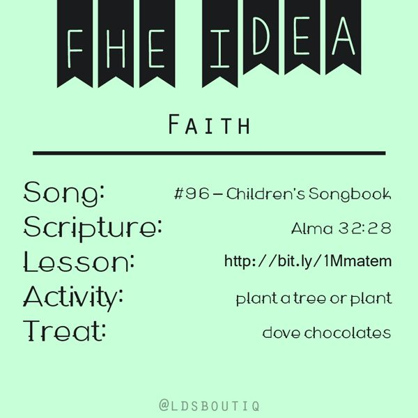 an fhe lesson on faith mormon lds christian preach and teach