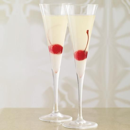 Platinum Sparkle   For parties, it is easy to premix the first four ingredients in large batches (3 parts vodka to 1 part each liqueur, Lillet and lemon juice). When ready to pour, fill a shaker with ice and 3 ounces of the mixture, shakes, strain into a glass and top with Champagne.