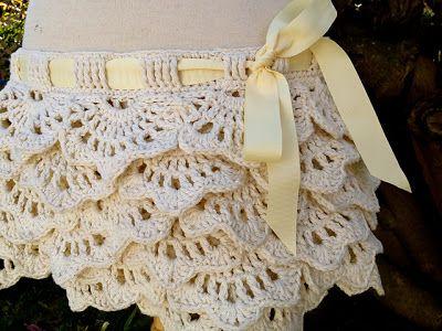 White Crochet Skirt Crochet Pinterest Crochet Skirts Crochet