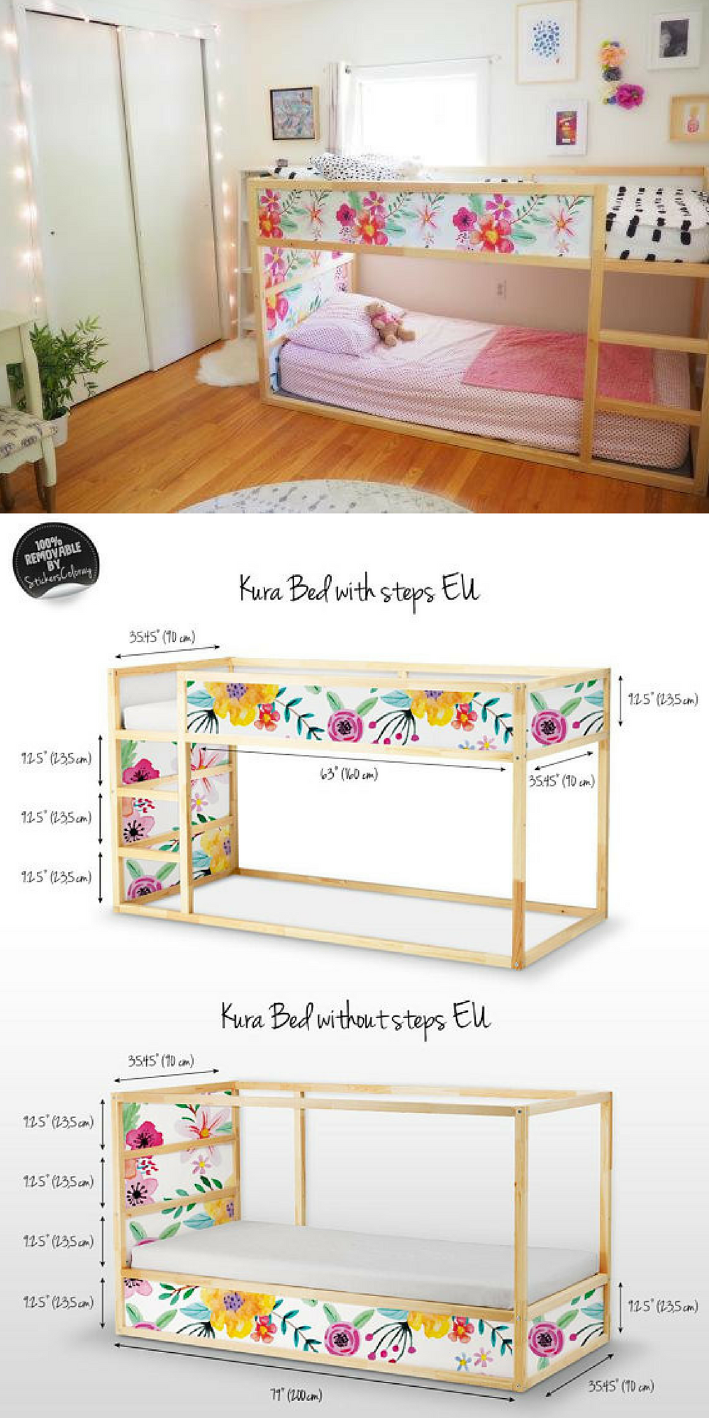 Love this IKEA hack for the Kura Bed Works with or without the