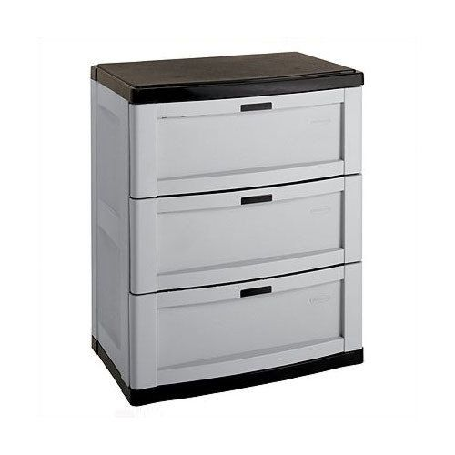 4 Drawer Plastic Storage Chest Utility Cabinet