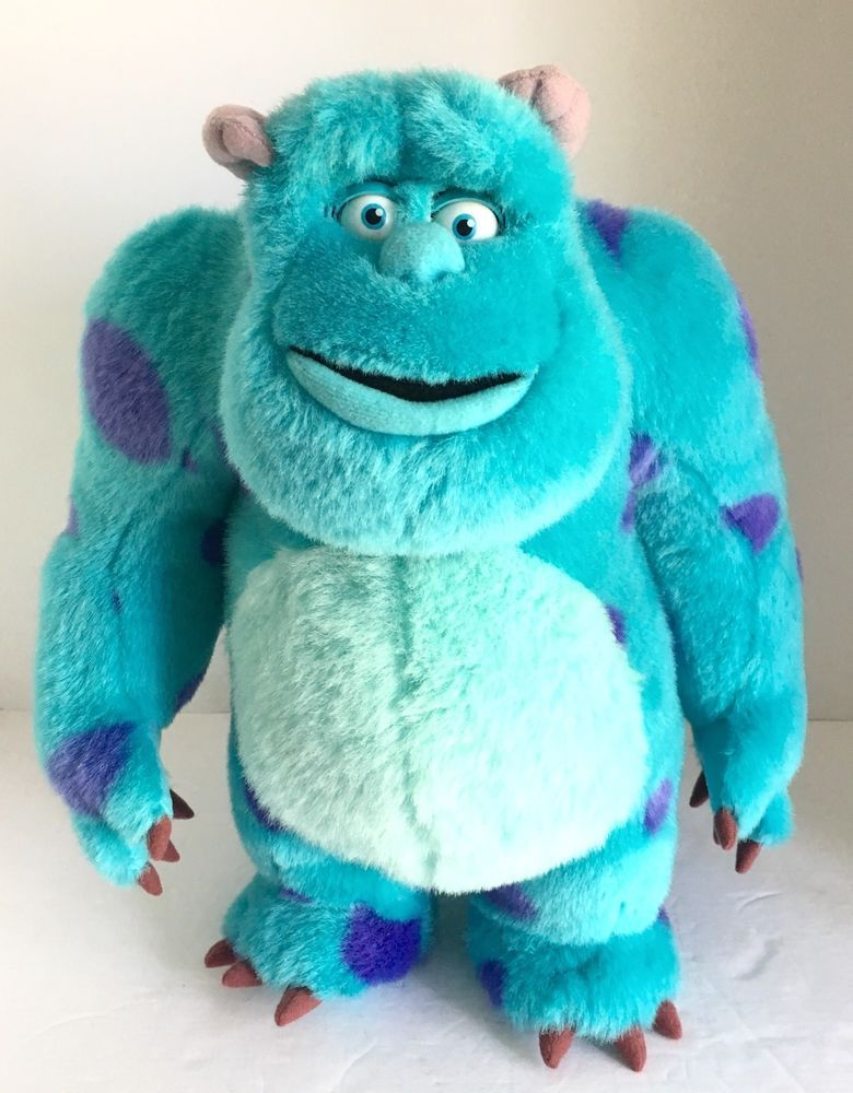 Sulley Monsters Inc Plush 16 Blinking Moving Eyes Spin