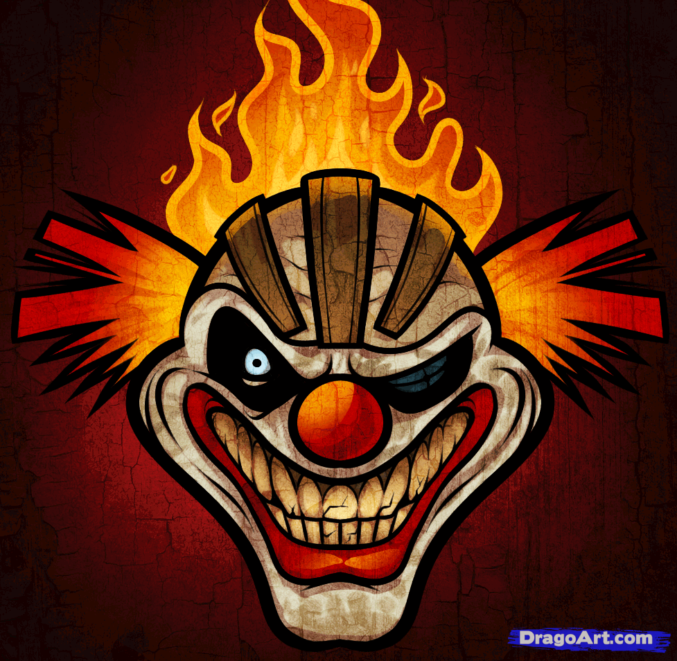 How To Draw Sweet Tooth, Twisted Metal, Step By Step -4176