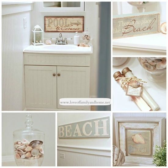 Very pretty beach bathroom decor :) - Craft ~ Your ~ Home
