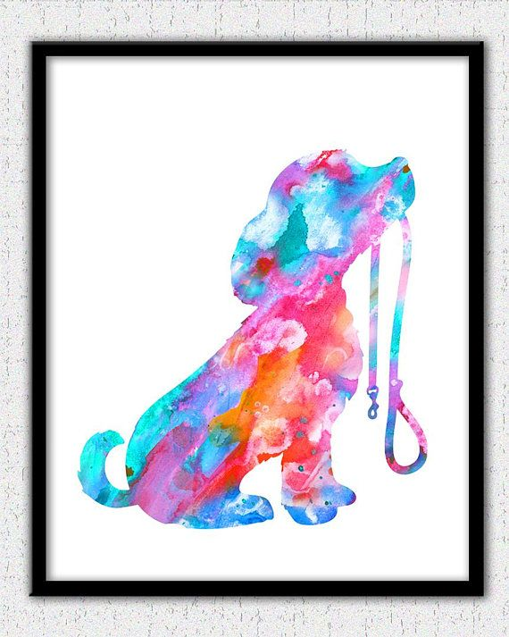 Dog Art Puppy Art Print Dog Watercolor Dog Illustration Dog
