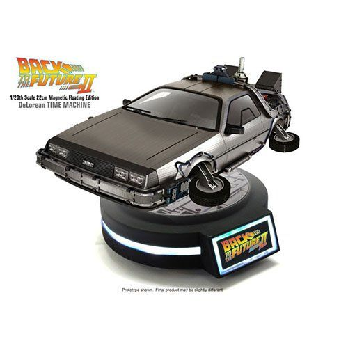 """Kids Logic 1/20 Magnetic Floating DeLorean Time Machine """"Back To The Future Part II"""" Action Figure. Levitating Time Machine with Magnetic Floating Base. More than 10 LED light-up features. Magnetic Floating Base comes with light up function."""