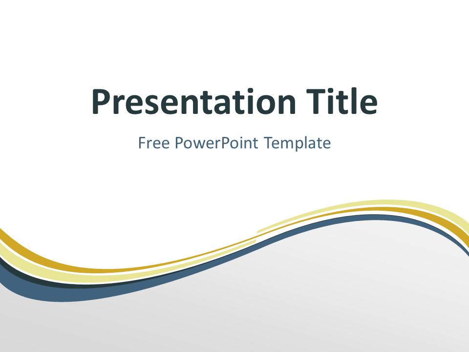 Free golden abstract wave powerpoint template title slide with free golden abstract wave powerpoint template title slide with light background toneelgroepblik Choice Image