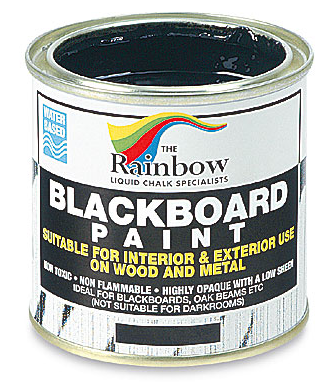 Rainbow Blackboard Paint: Paint a room wall with this for a giant chalk board!