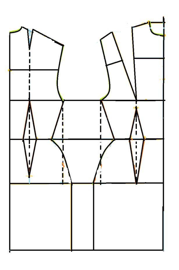 constructing the basic sloper pattern   Dress patterns, Patterns and ...