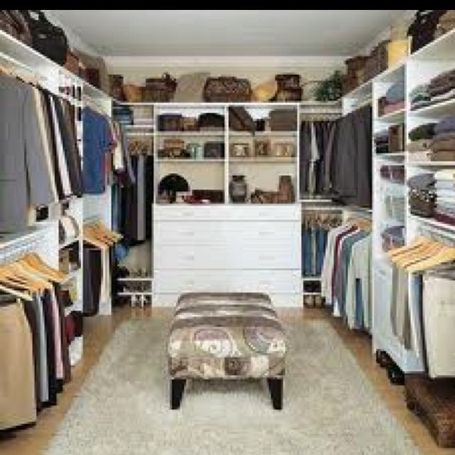 very attractive walk in closet designs for a master bedroom. Walk in closet  Not sure how big ur spare room is but this