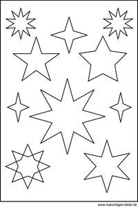 Sternen Vorlage Vorlagen Pinterest Sterne Vorlagen Und
