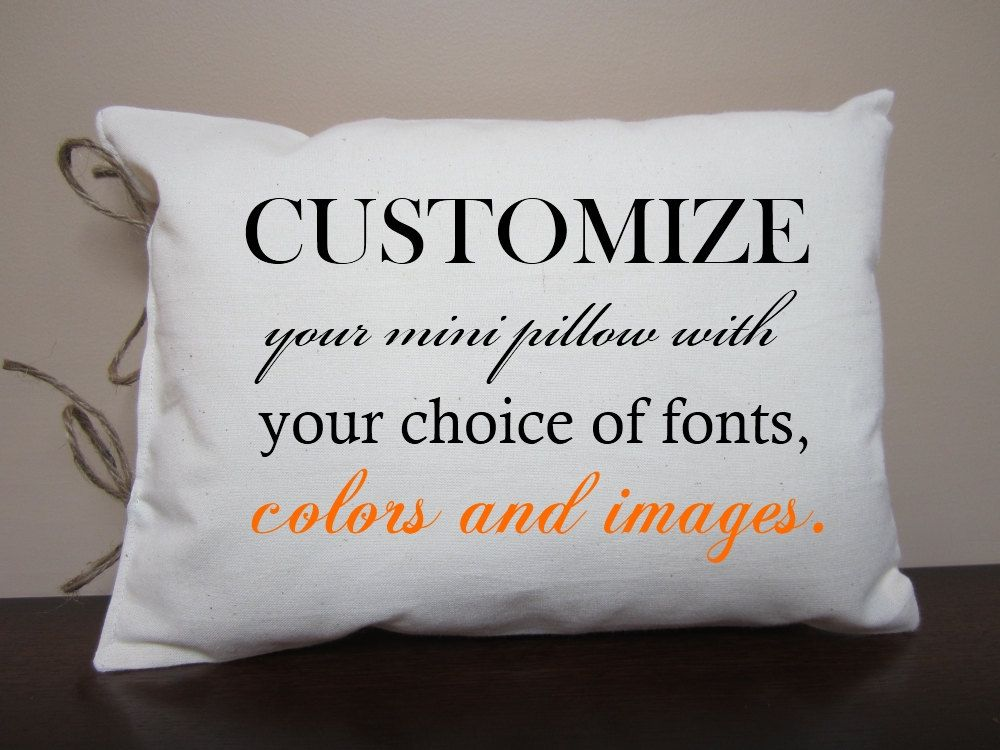 customized mini decorative pillow design your own personalize on