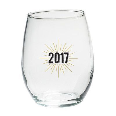 Kate Aspen New Years 2017 15 Oz. Stemless Wine Glass