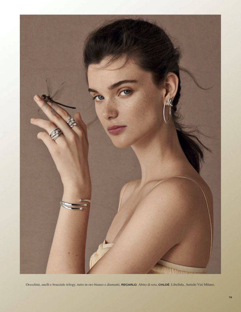 Photo of Sara Dijkink Models Elegant Gems for Vanity Fair Italy