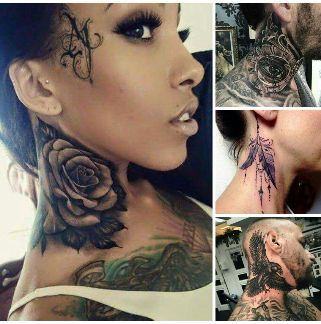 Amazing Neck Tats Neck Tattoos Women Girl Neck Tattoos Side Neck Tattoo