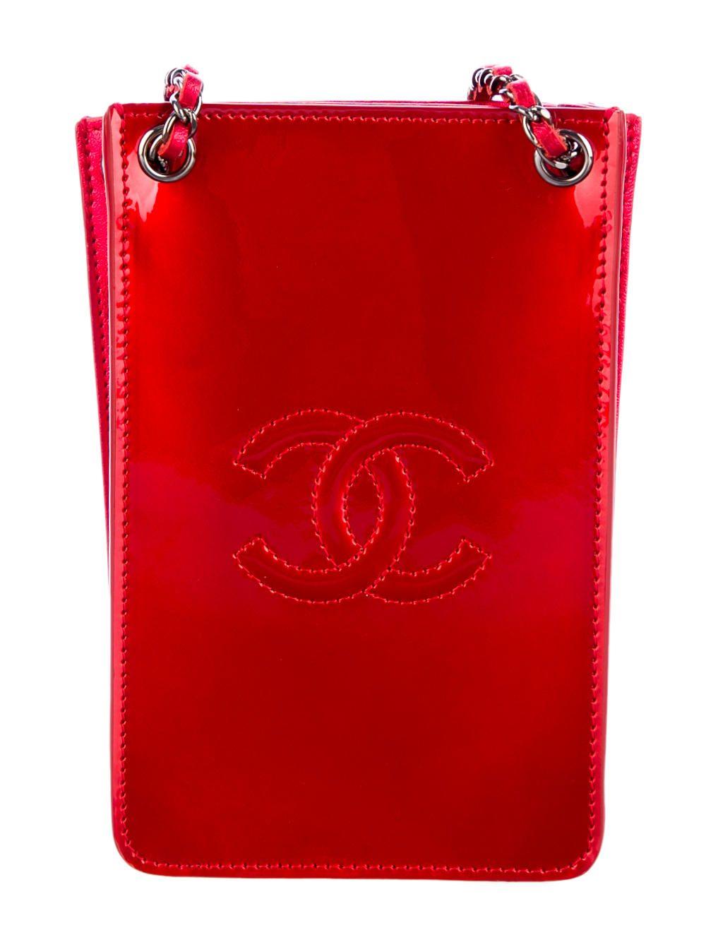 Chanel crossbody phone holder chanel crossbody red