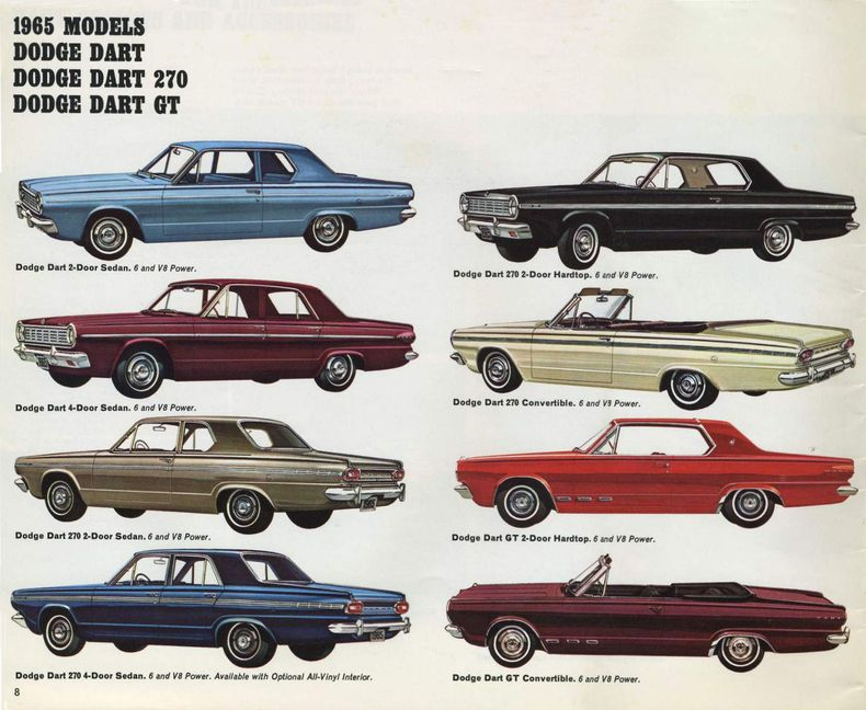 1965 Dart Specs Colors Facts History And Performance Classic