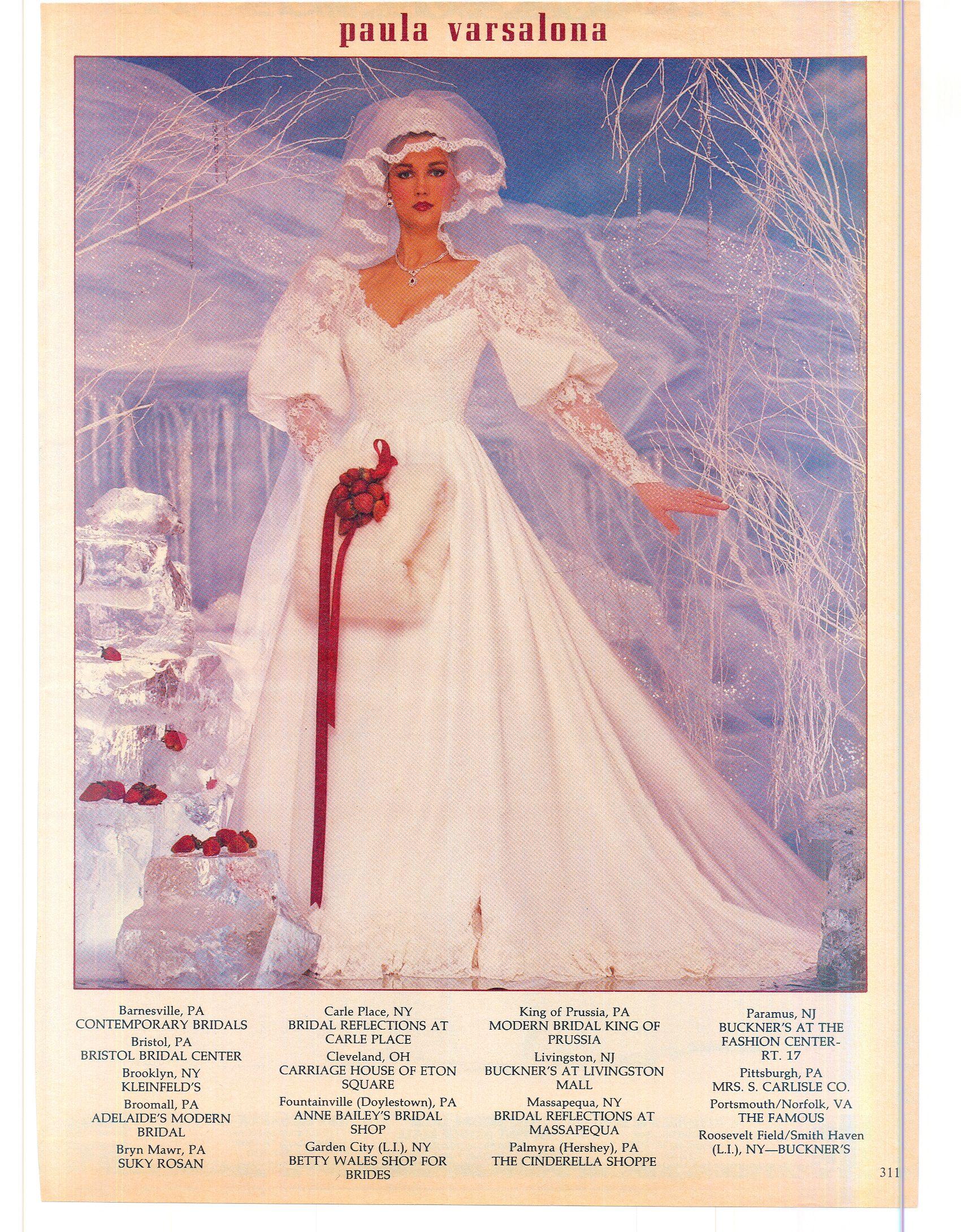 Paula Varsalona 1983 | 1980s Wedding Gowns | Pinterest