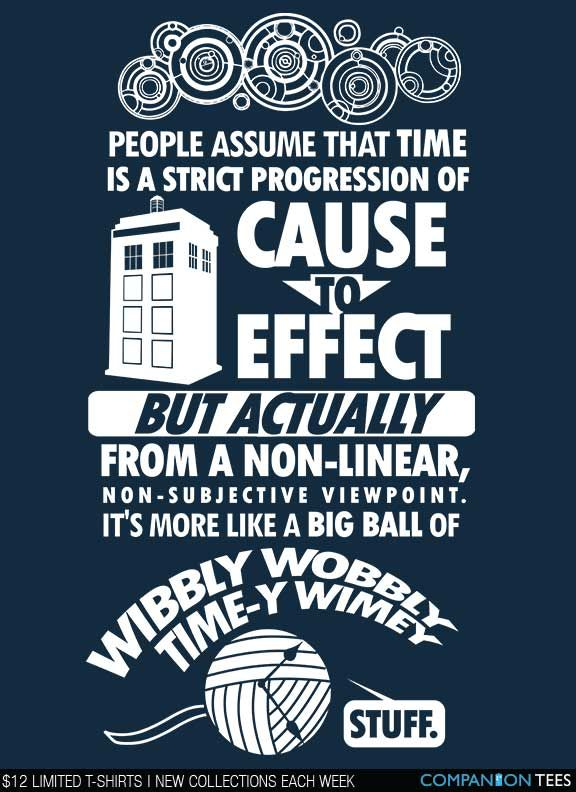 Timey Wimey T-Shirt $12 Doctor Who tee at Companion Tees!